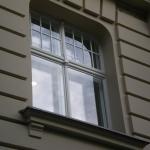 czteroskrzydłowe okno skrzynkowe