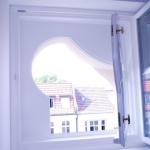 okno krosnowe nietypowego kształtu