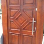 drzwi drewniane zewnętrzne z rombem